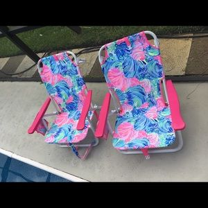 Fabulous Lilly Pulitzer Beach Chairs Set Of 2 New In Box Nwt Alphanode Cool Chair Designs And Ideas Alphanodeonline